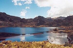 Cajas National Park in Ecuador, near Cuenca.