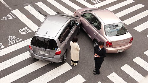 Japanese car accident blur