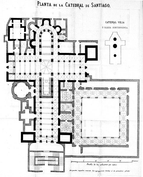 Archivo:Planta de la Catedral de Santiago. Descripcion