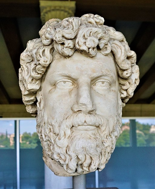 Portrait Head of Aelius Verus - Museum of the Ancient Agora - Joy of Museum