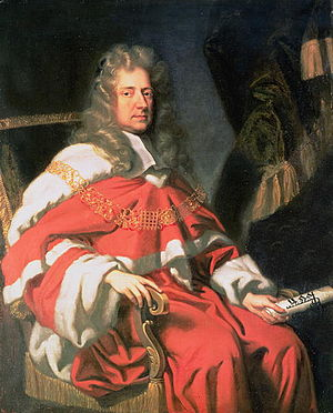 English: Portrait of Judge George Jeffreys, Fi...