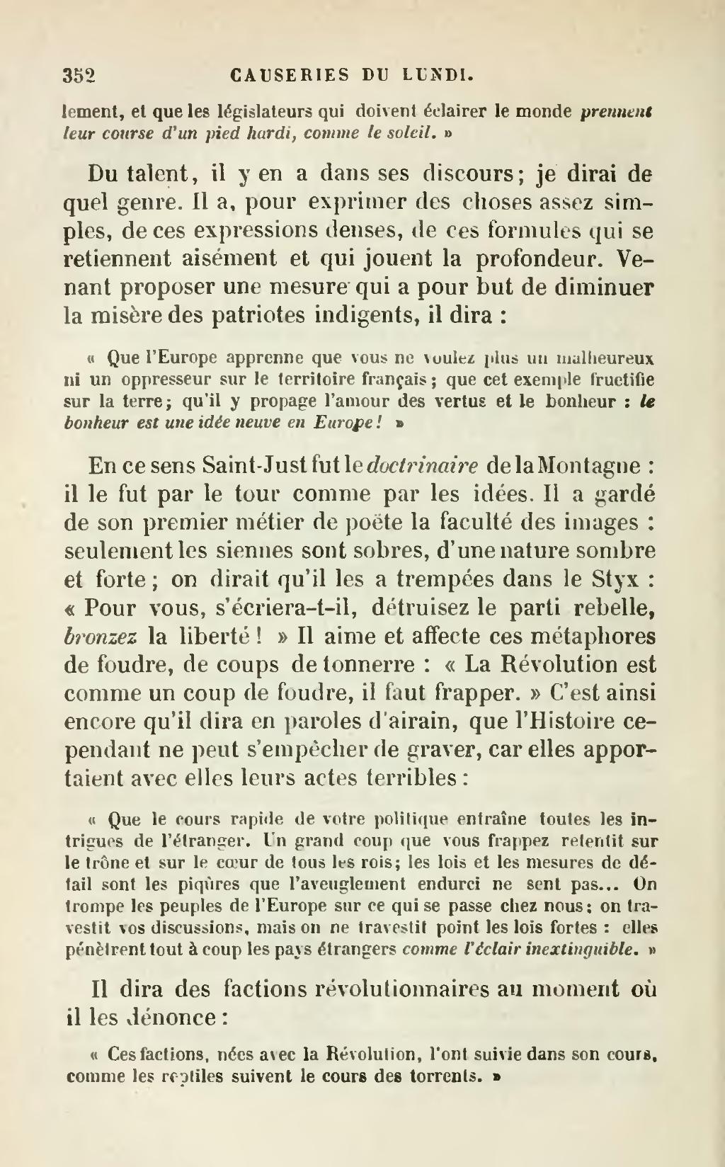 Le Bonheur Est Une Idée Neuve En Europe : bonheur, idée, neuve, europe, Page:Sainte-Beuve, Causeries, Lundi,, éd.djvu/362, Wikisource