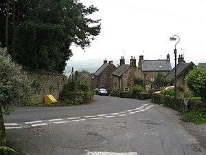 English: Stanton in Peak - Road Junction