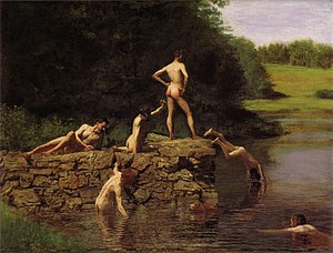 G-190. The Swimming Hole (1884-85). Wallace is...
