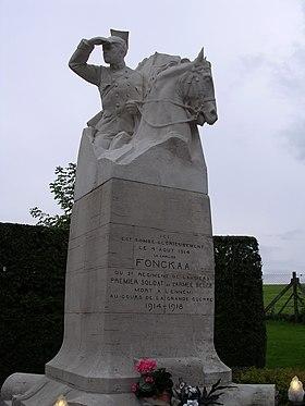 Monument sur le lieu de son décès