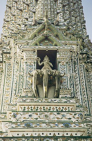 Detail of the Phra Prang, the central tower of...