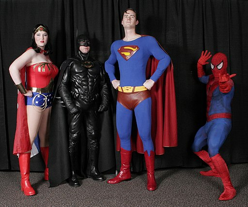Cosplay of superheroes