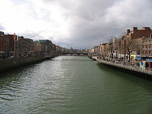 River Liffey in Dublin City