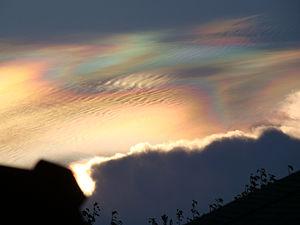 English: Iridescent clouds in Round Rock & Aus...