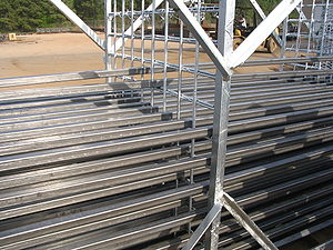Steel tube ready to be galvanized