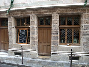English: The house of Nicolas Flamel, now a re...