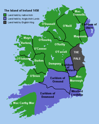 Historical map of Ireland from http://Www.wesl...