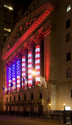 The New York Stock Exchange on Wall Street, Ne...
