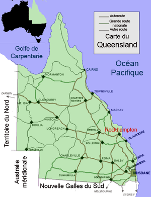 Rockhampton, Queensland (carte)
