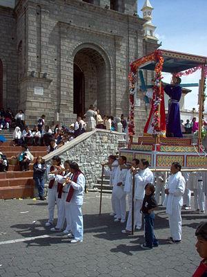 Semana Santa celabrations in Cotacachi, Imbabu...
