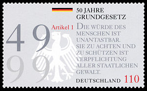 Stamp from Deutsche Post AG from 1999, 50th an...