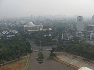 English: The view of Central Jakarta from the ...