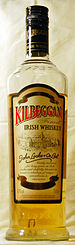 bottle of Kilbeggan Whiskey