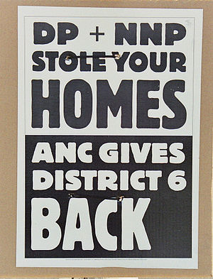 ANC election poster, trying to make political ...