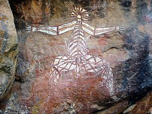 Aboriginal Rock Art, Anbangbang Rock Shelter, ...