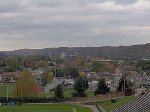 English: View of Beaver Falls, , , from Northw...
