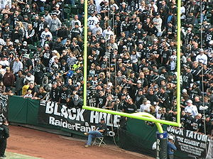 The Black Hole at the Oakland Coliseum during ...