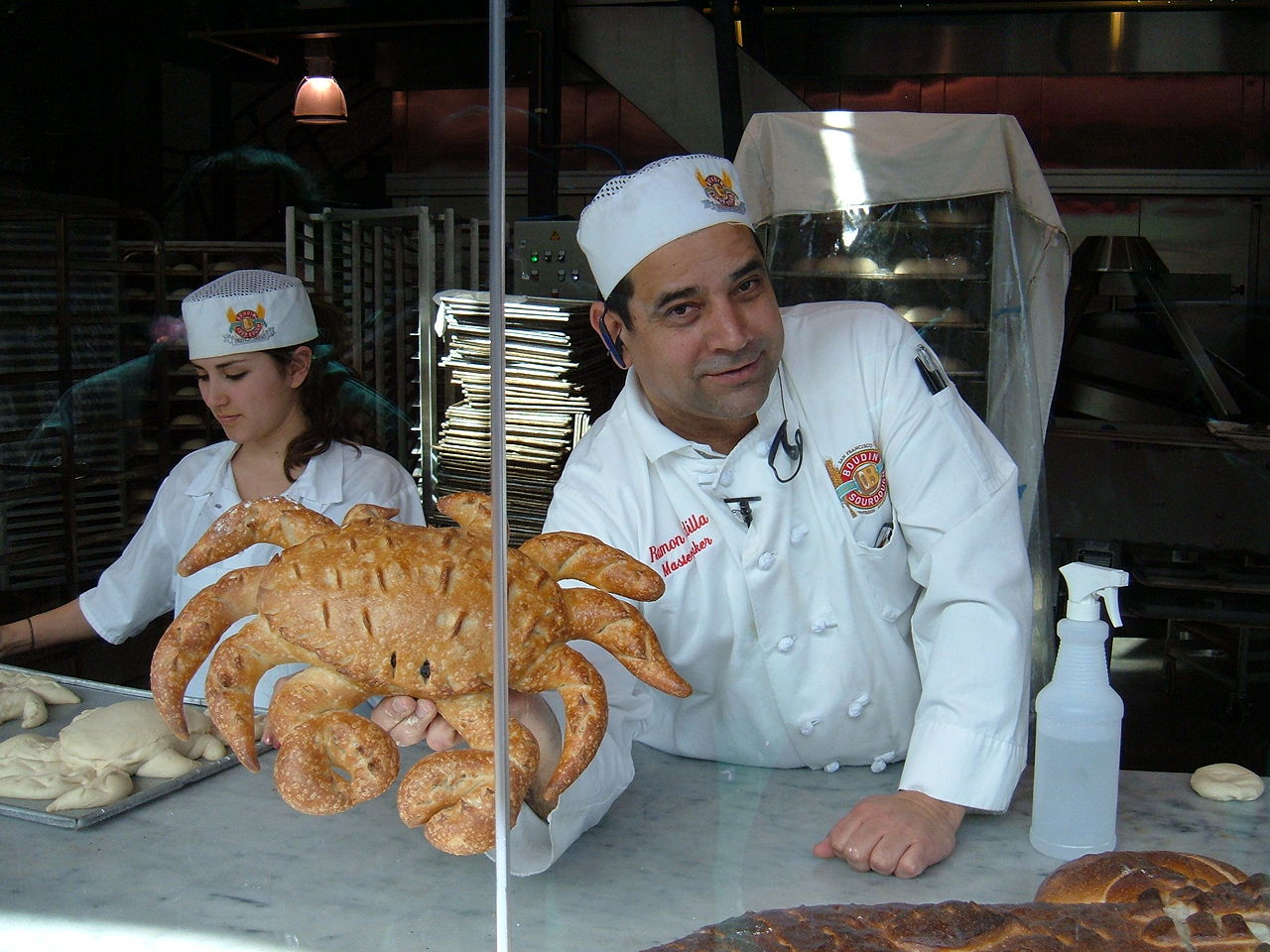 FileBoudin Bakery Fishermans Wharf baker showing off crab 1JPG  Wikimedia Commons