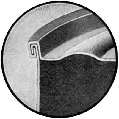 Can solderless seam cutaway
