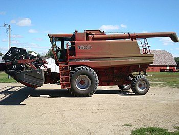 The 1680 Case I/H Combine my dad uses to harve...