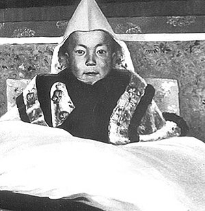 The 14th Dalai Lama as a young boy.
