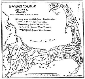 English: Map of the towns on Cape Cod. http://...