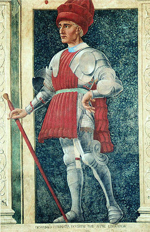 Painting by Andrea del Castagno depicting Fari...