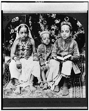 Hindu children of high caste, Bombay, India