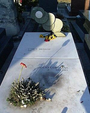 Cortázar's gravestone at Montparnasse Cemetery...