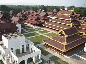 English: Mandalay Royal Palace View from Watch...