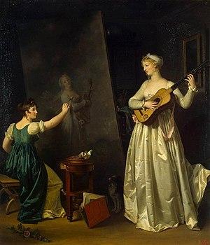 Marguerite Gérard - Artist Painting a Portrait...