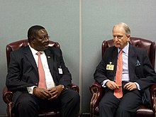 Peter Mutharika meeting Henry Bellingham of the British Foreign Office