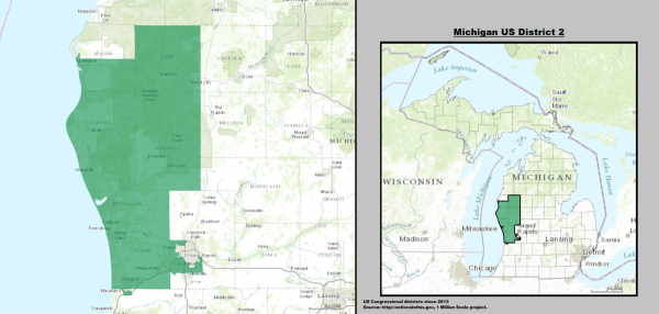 Michigans 2nd congressional district Wikipedia