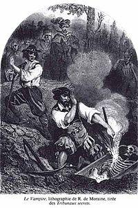 Le Vampire, lithograph by R. de MoraineLes Tribunaux secrets (1864)
