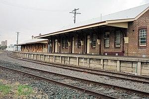 English: Moree Railway Station, Moree New Sout...