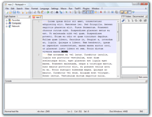 Screenshot of Notepad++ running on Windows Vista.