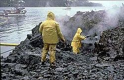 Limpeza de resäuos petrolæeros