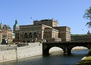Royal Swedish Opera, seen from Helgeandsholmen