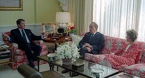 Reagans with Richard Nixon 1988