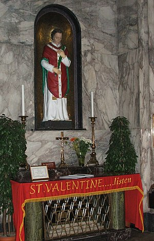Shrine of St. Valenitne's in Whitefriar Street...