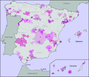 Wine regions of Spain with denominación de ori...