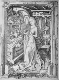 Virgin in Prayer, Engraving, Die heilige Jungf...