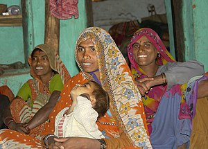 English: Women in Raisen district, M.P., India...