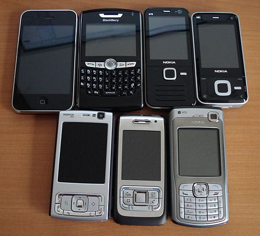 Assorted smartphones