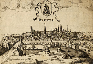 English: A view of Brussels( Belgium) from sub...